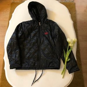 Unisex Adidas Quilted Hooded Puffer Jacket
